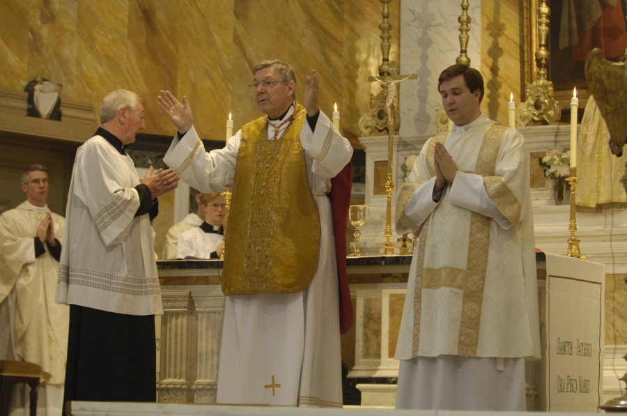 With Cardinal Pell of Sydney; Photos courtesy of Andrew Stuart.