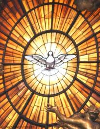 Représentation du Saint Esprit sous la forme de la Colombe,dans la basilique Saint-Pierre à Rome